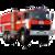 Иконка для wialon от global-trace.ru: Урал пожарная машина (10)
