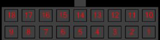 Разъём PWR/DATA Stab Liner 102